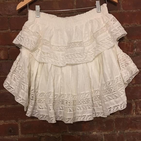 a71ab3b8c LoveShackFancy Skirts | Ruffle Mini Skirt | Poshmark